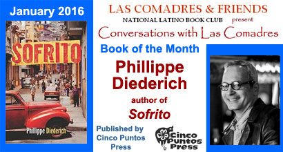 January 2016: Phillippe Diederich author of Sofrito published by Cinco Puntos Press
