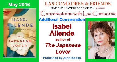 May 2016: Isabel Allende author of The Japanese Lover published by Atria Books
