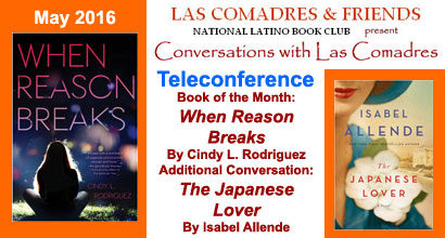 May 2016: Cindy L. Rodriguez, Isabel Allende